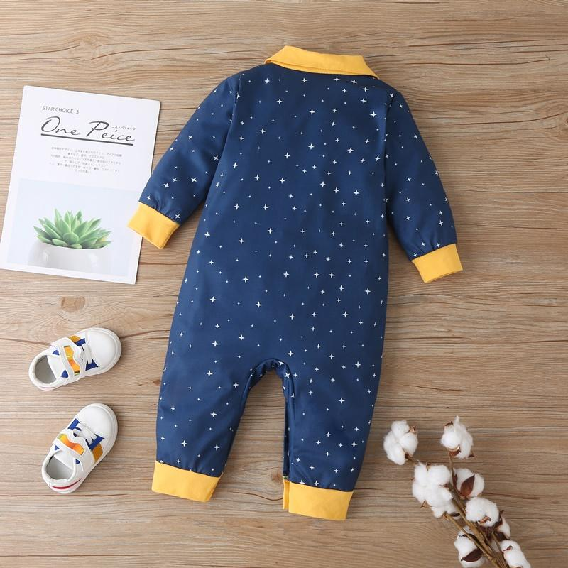 Astronaut Pattern Jumpsuit for Baby Boy