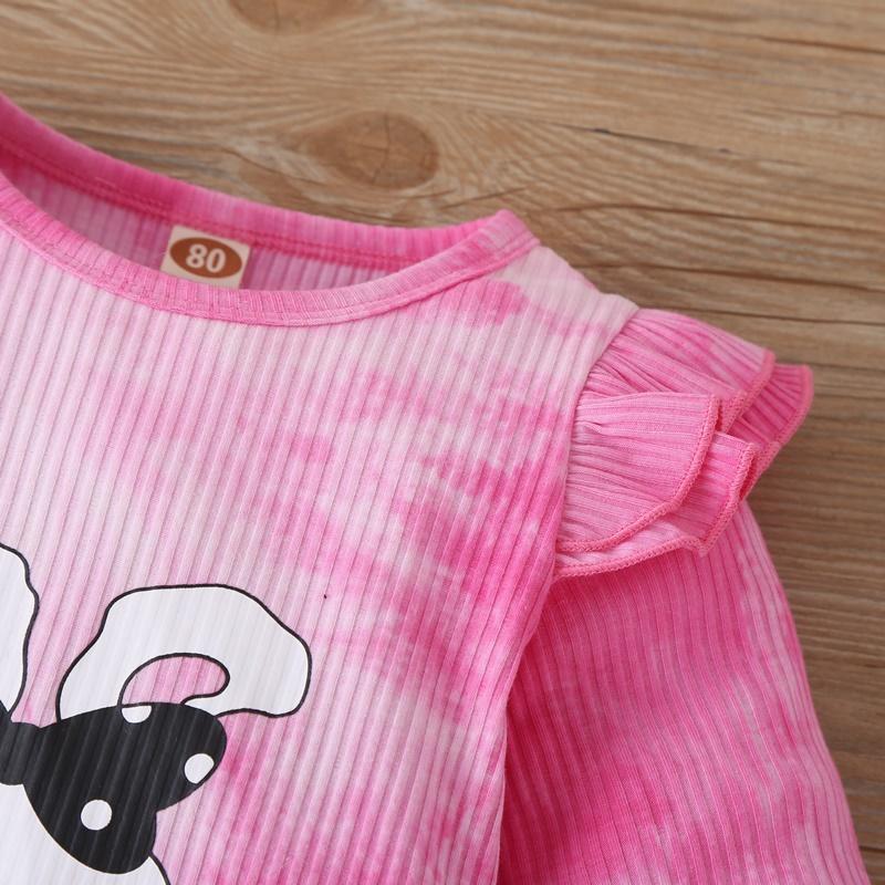 2-piece Rabbit Pattern Jumpsuit & Headband for Baby Girl