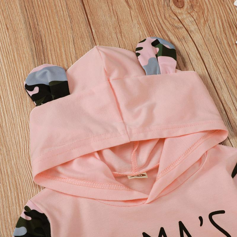 2-piece Camouflage Hoodie & Pants for Baby Girl