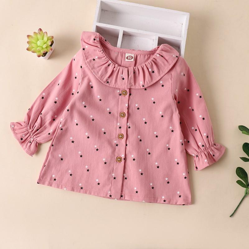 Pentagram Printed Long Sleeve Shirt for Toddler Girl