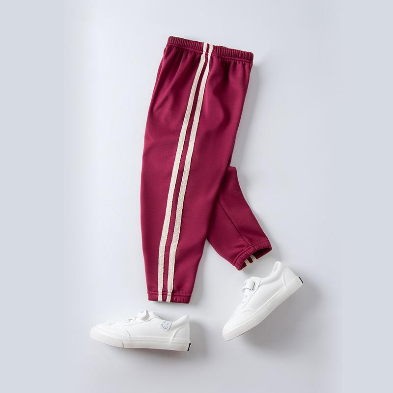 Solid Stripes Knit Pants for Girl