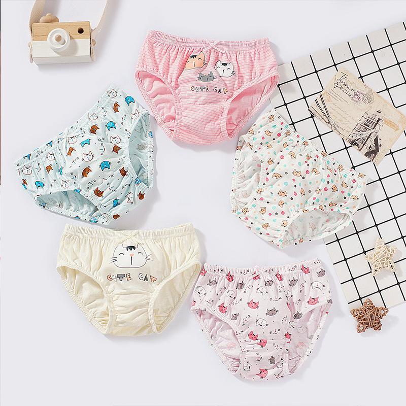 5-piece Cartoon Pattern Underwear for Toddler Girl