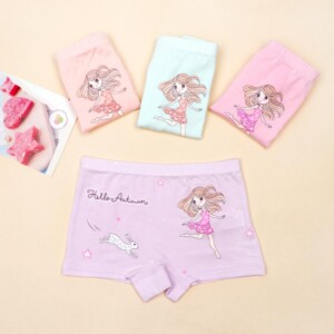 4-piece Cartoon Pattern Underwears for Toddler Girl