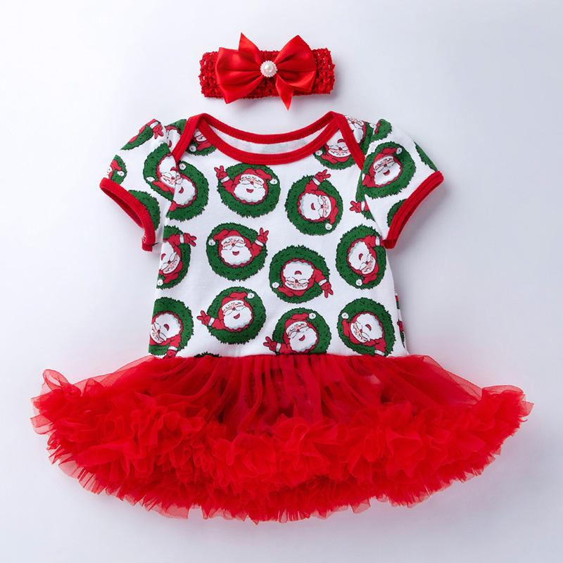 2-piece Cartoon Romper-skirts and Headband Sets for Baby Girl