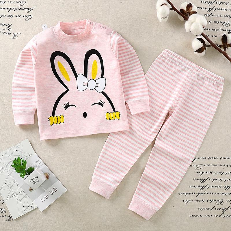 2-piece Cartoon Design Pajamas Sets for Toddler Girl