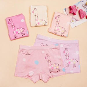 5-piece Cartoon Pattern Underwears for Toddler Girl