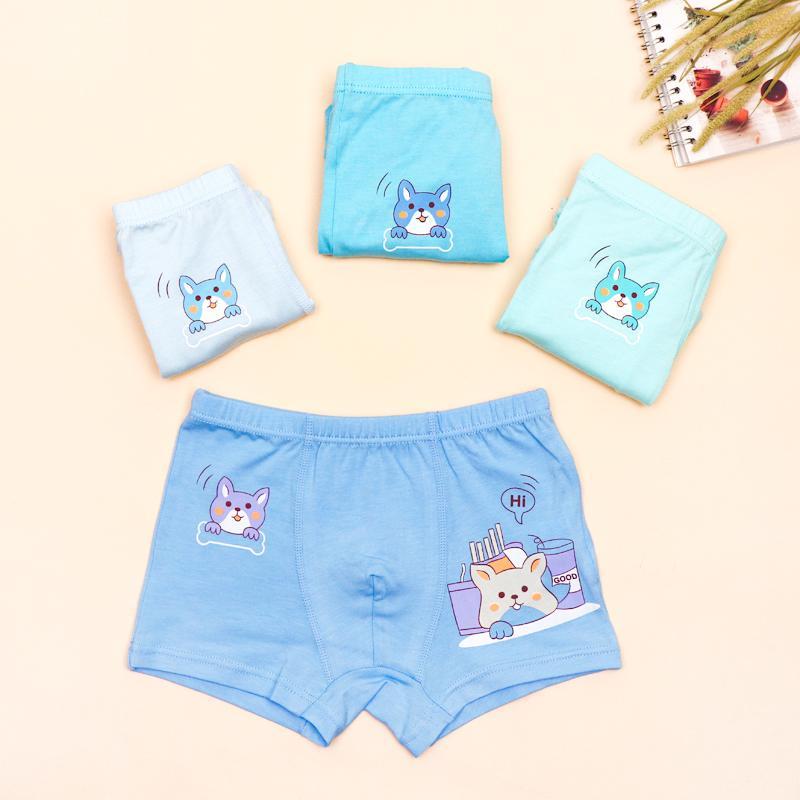 4-piece Animal Pattern Underwears for Toddler Boy