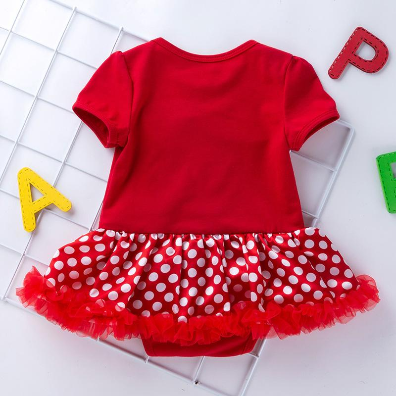4-piece Cartoon Romper-skirts and Shoes and Leggings and Headband Sets for Baby Girl