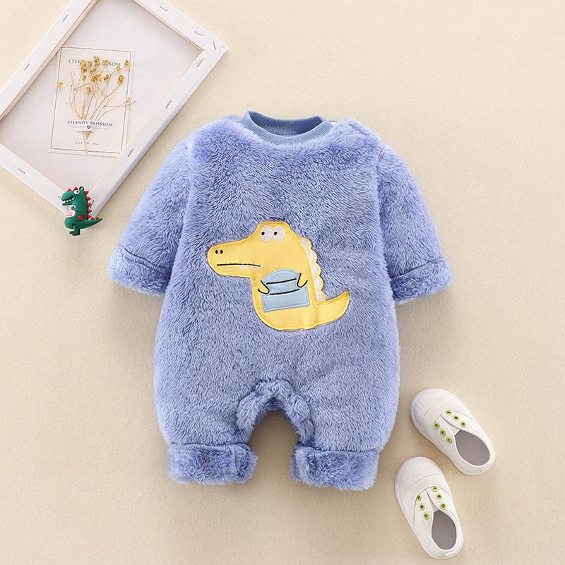 Cartoon Pattern Hooded Jumpsuit for Baby Boy