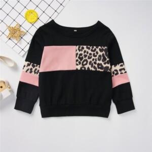 Leopard Pattern Long Sleeve T-shirt for Toddler Girl