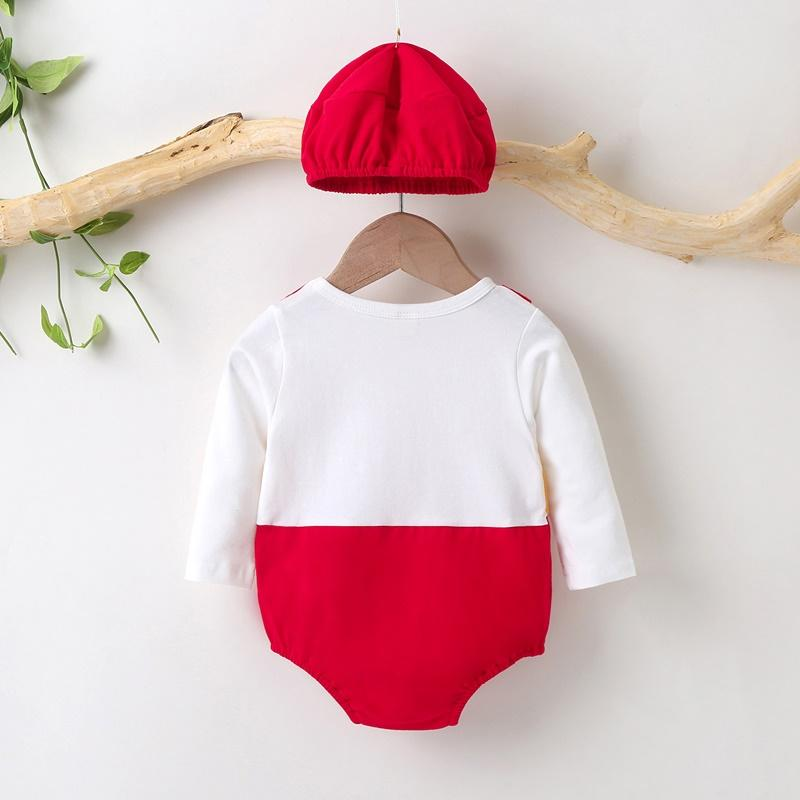 2-piece Food Pattern Romper & Hat for Baby