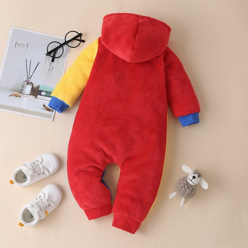 Color-block Plush Jumpsuit for Baby