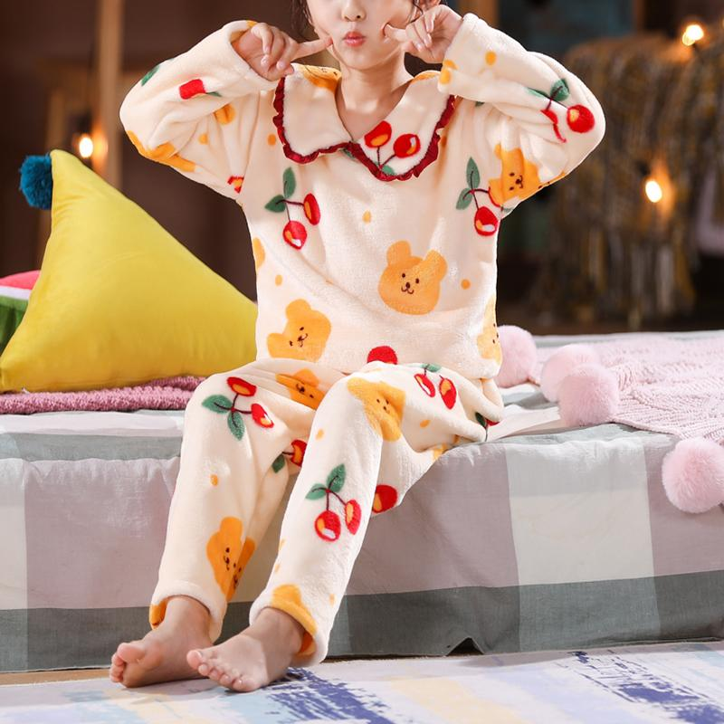 2-piece Fleece-lined Pajamas Sets for Girl