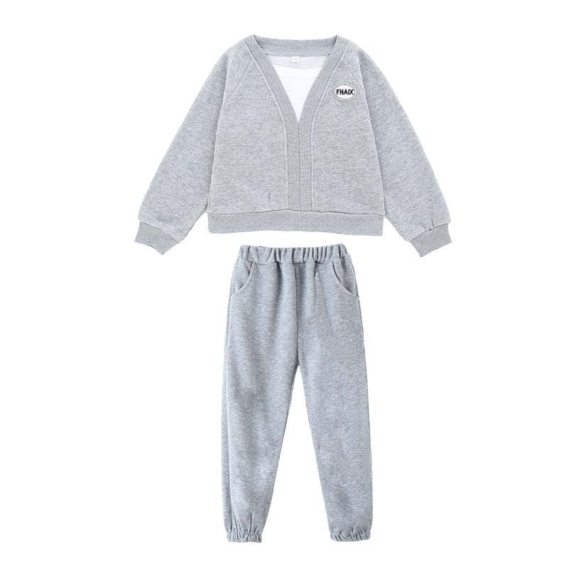 2-piece Solid Color Suit for Girl