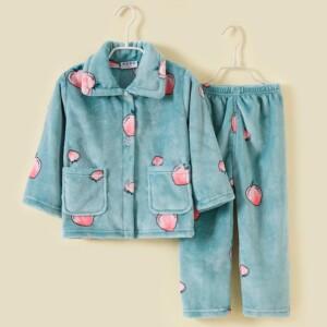 2-piece Winter Cartoon Design Pajamas Sets for Toddler Girl