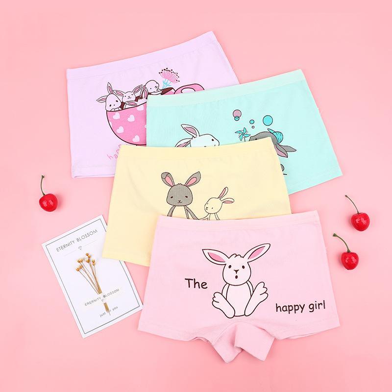 4-piece Animal Pattern Underwears for Toddler Girl