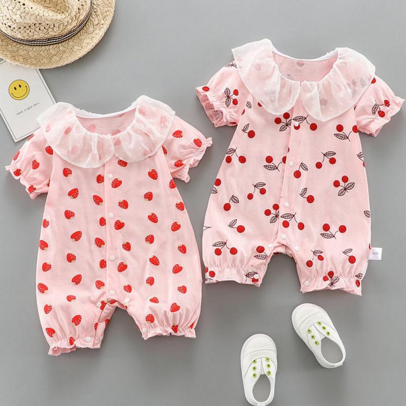 Fruit Printed Bodysuit for Baby Girl
