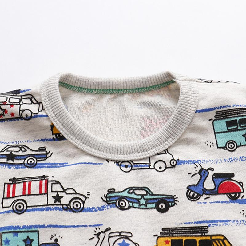 Vehicle Printed Sweatpants for Toddler Boy
