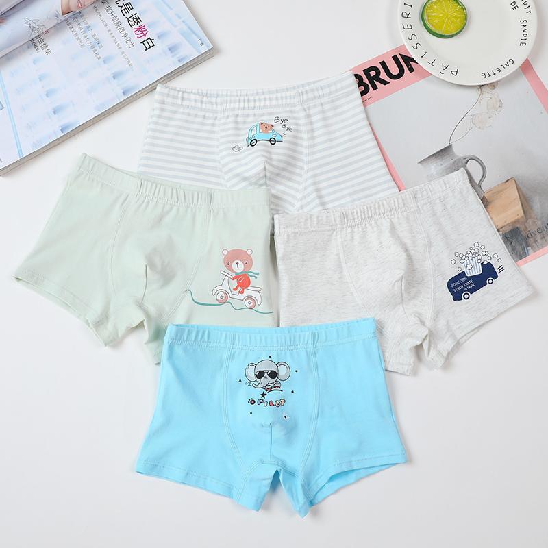 4-piece Cartoon Design Underwears for Toddler Boy