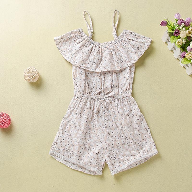 Sling Floral Printed Overalls for Toddler Girl