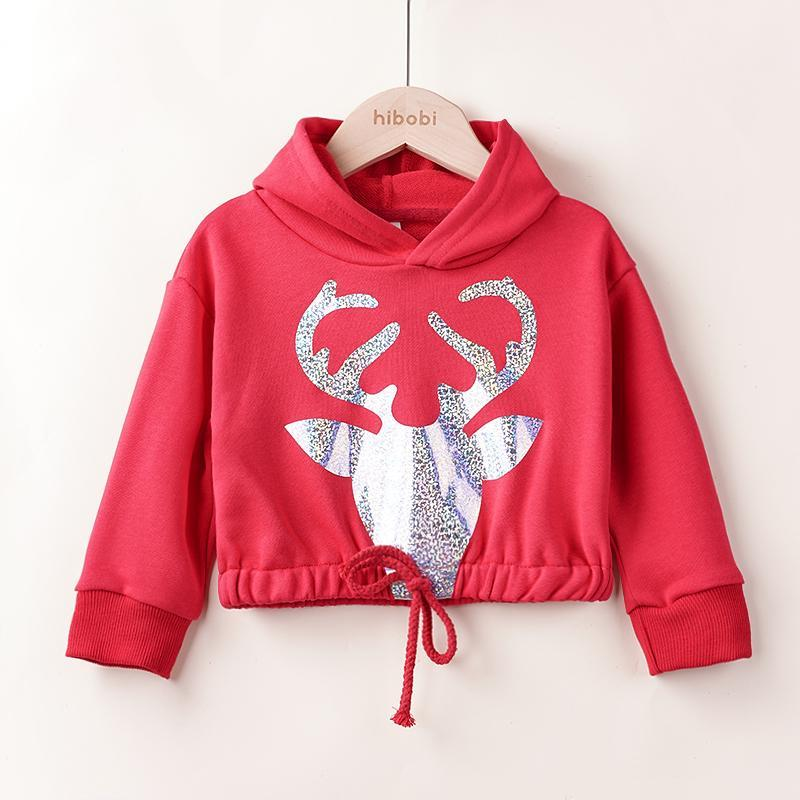 Deer Pattern Sweatshirts for Toddler Girl