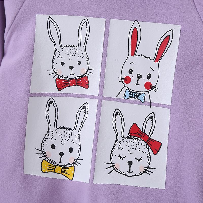 Rabbit Pattern Dress for Baby Girl