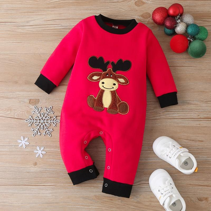 Deer Pattern Christmas Jumpsuit for Baby