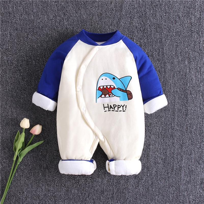 Shark Pattern Jumpsuit for Baby Boy