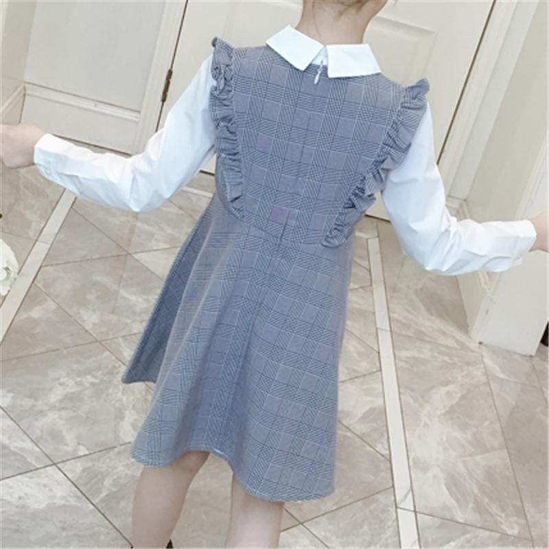 Ruffle Plaid Dress for Girl