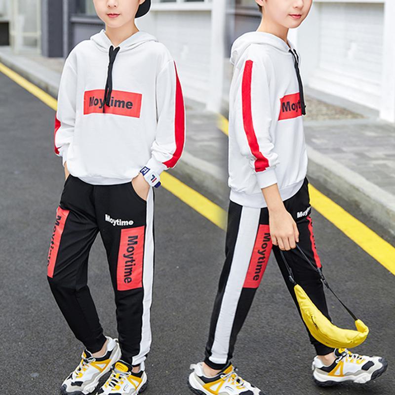 2-piece Color-block Hoodie & Pants for Boy