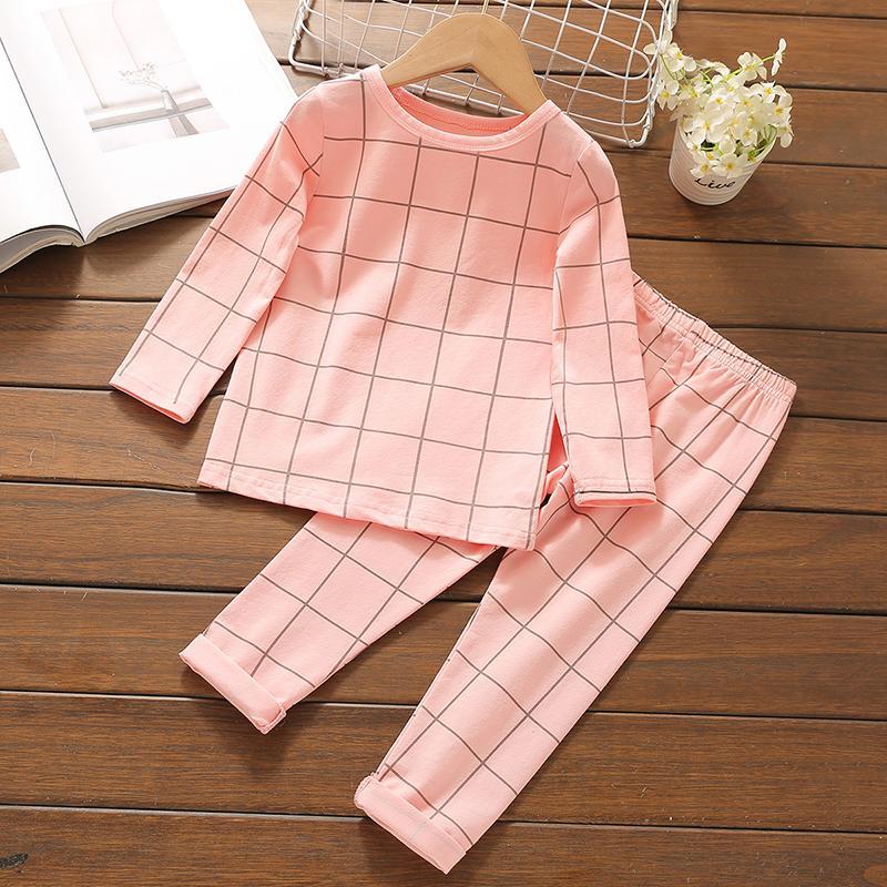 2-piece Plaid Pajamas Sets for Toddler Boy