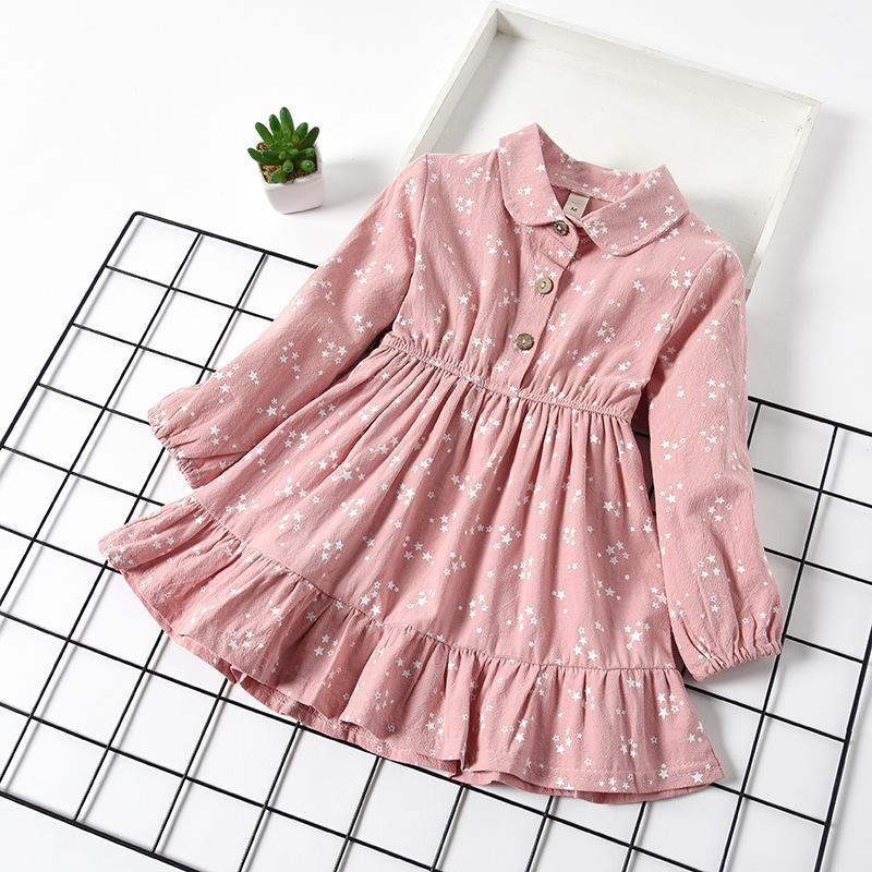 Star pattern Dress for Toddler Girl