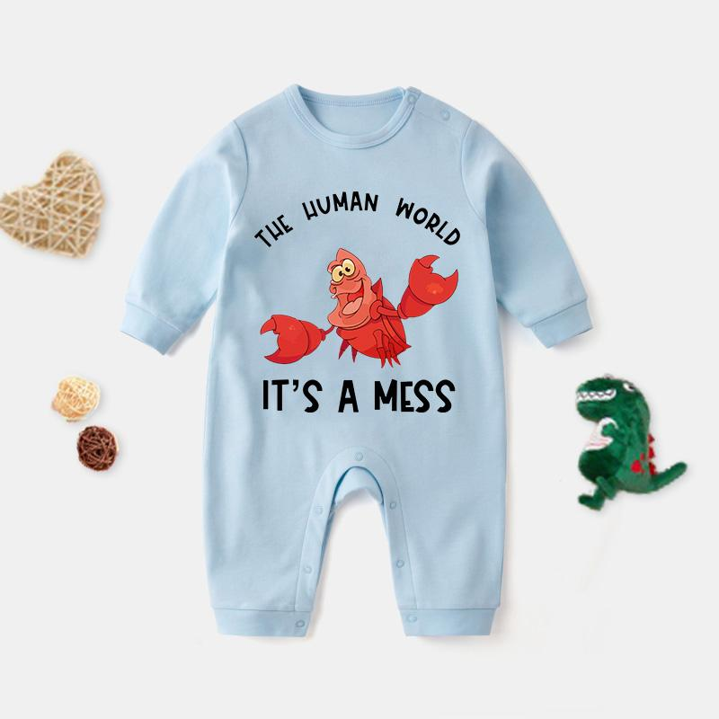 Lobster Pattern Jumpsuit for Baby