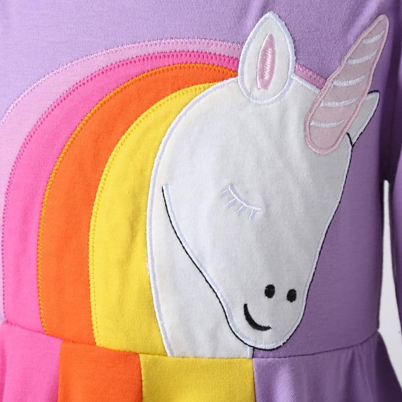 Long sleeve Colorblock Dress for Toddler Girl
