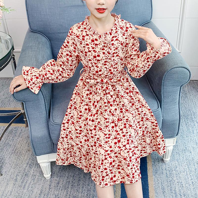 Floral Pattern Dress for Girl
