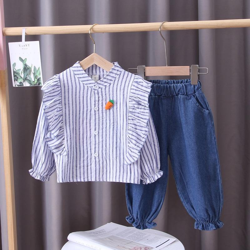 2-piece Carrot Pattern Shirt & Pants for Toddler Girl
