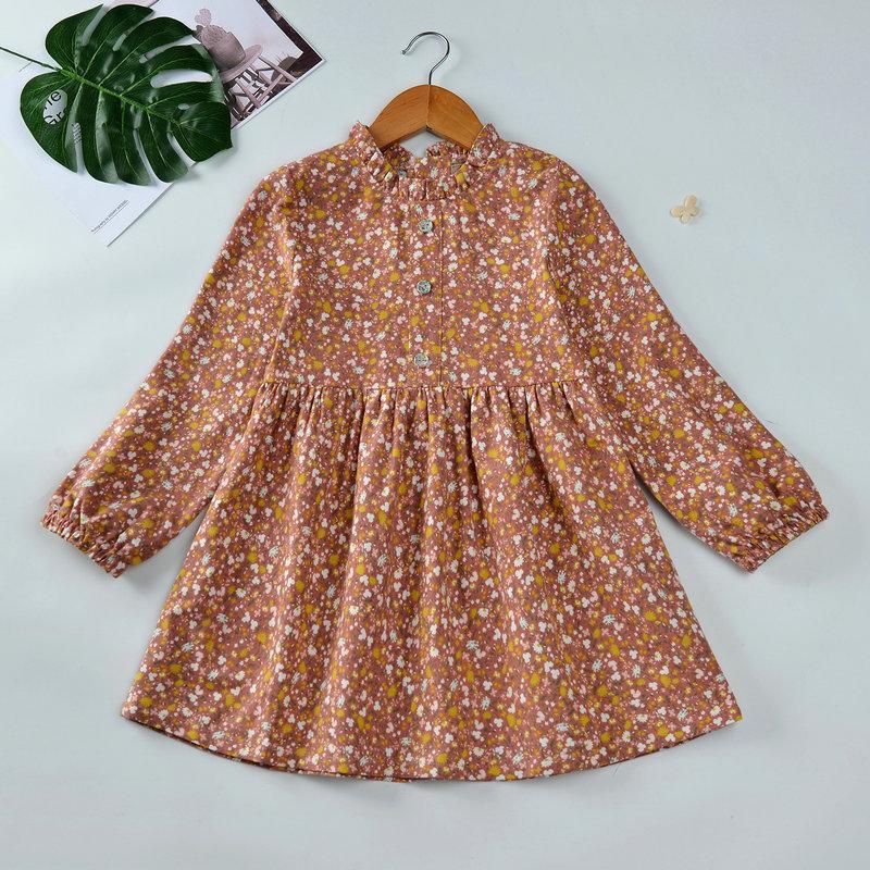 Floral Pattern Dress for Toddler Girl