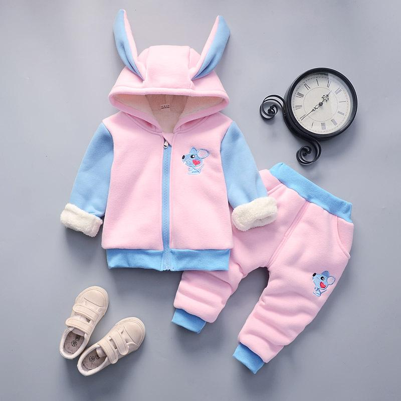 2-piece Fleece-lined Suit for Toddler Girl