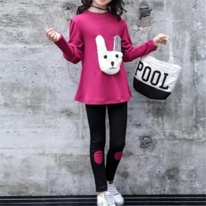 2-piece Long Sleeve T-shirt & Pants for Girl