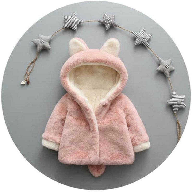 Rabbit Ears Pattern Plush Hooded Jacket for Toddler Boy