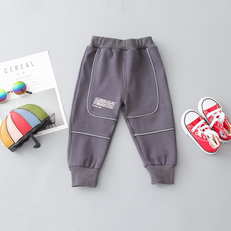 Letter Pattern Thick Pants for Toddler Boy