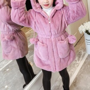 Fleece-lined Coat for Girl