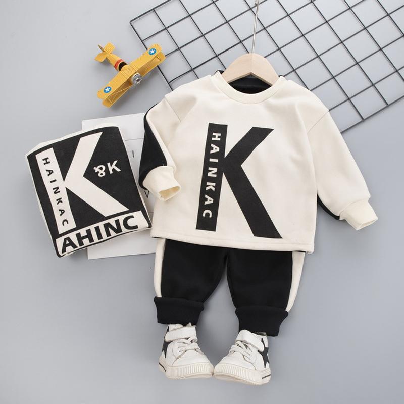 2-piece Fleece-lined Sweatshirts & Pants for Toddler Boy