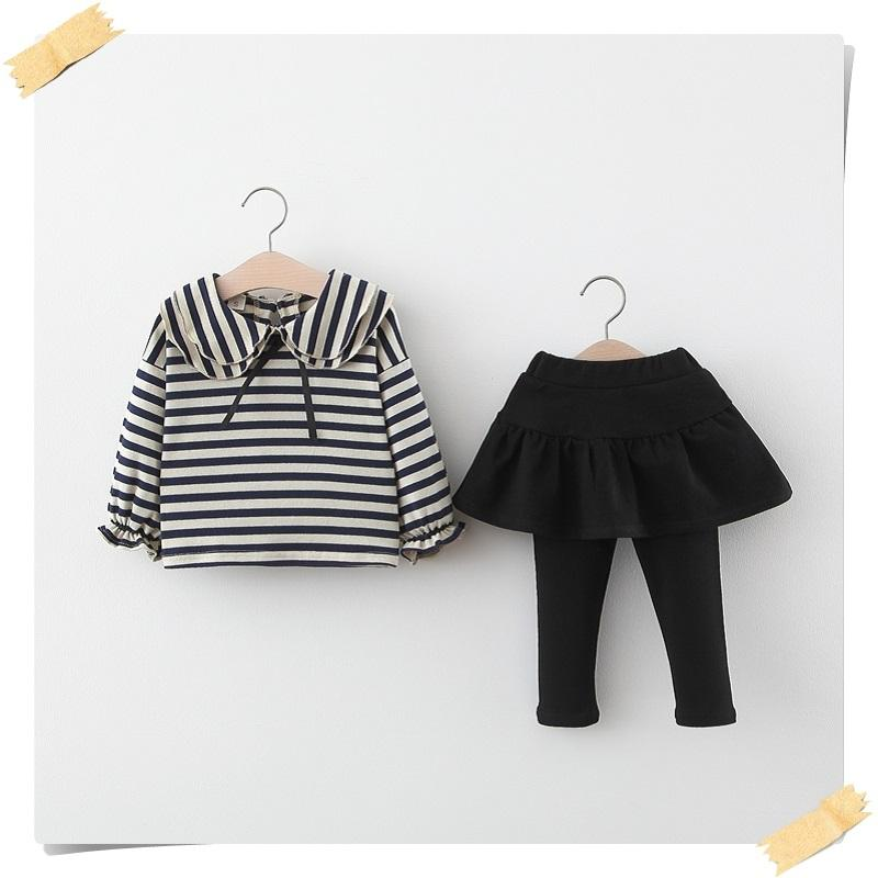 2-piece Striped Shirt & Pants for Toddler Girl