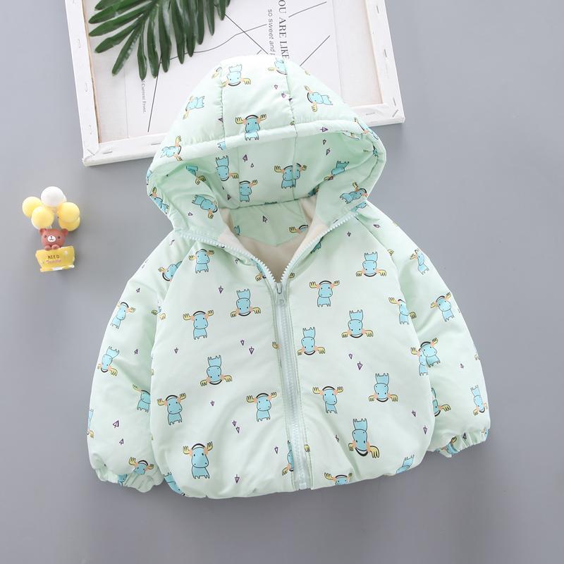 Cotton Pattern Puffer Jacket for Toddler Girl
