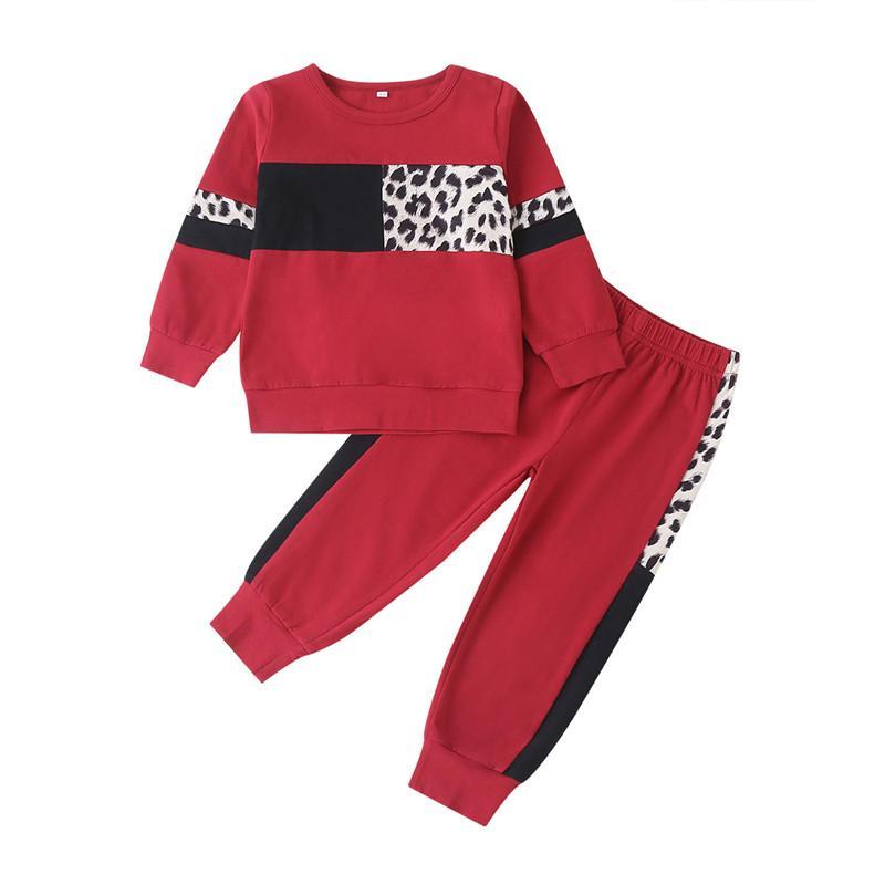 2-piece Leopard Sweatshirts & Leopard Pants for Toddler Girl