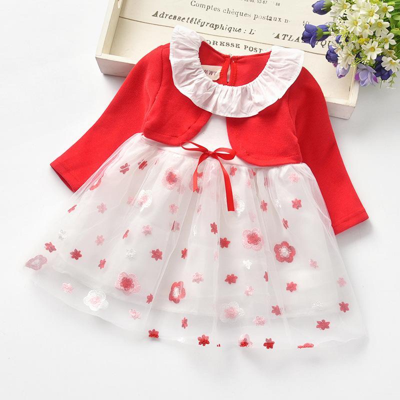 Floral Pattern Princess Dress for Toddler Girl