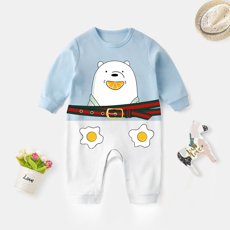 Polar Bear Pattern Jumpsuit for Baby