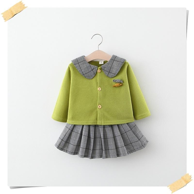 2-piece Coat & Pleated skirt for Toddler Girl
