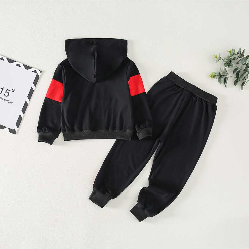 2-piece Letter Pattern Hoodie & Pants for Toddler